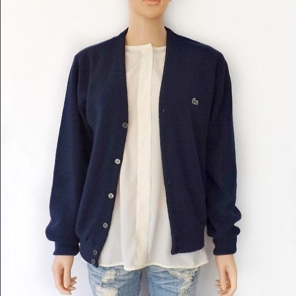 946a84b808568 Lacoste Sweaters - Lacoste Navy Blue Cardigan